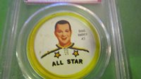 1962/63 Doug Harvey Shirriff hockey coin (all-star) 45 psa 6