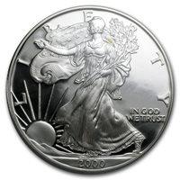 2000-P American Silver Eagle - Proof
