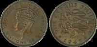 1947 CYPRUS ONE SHILLING, PCGS AU55