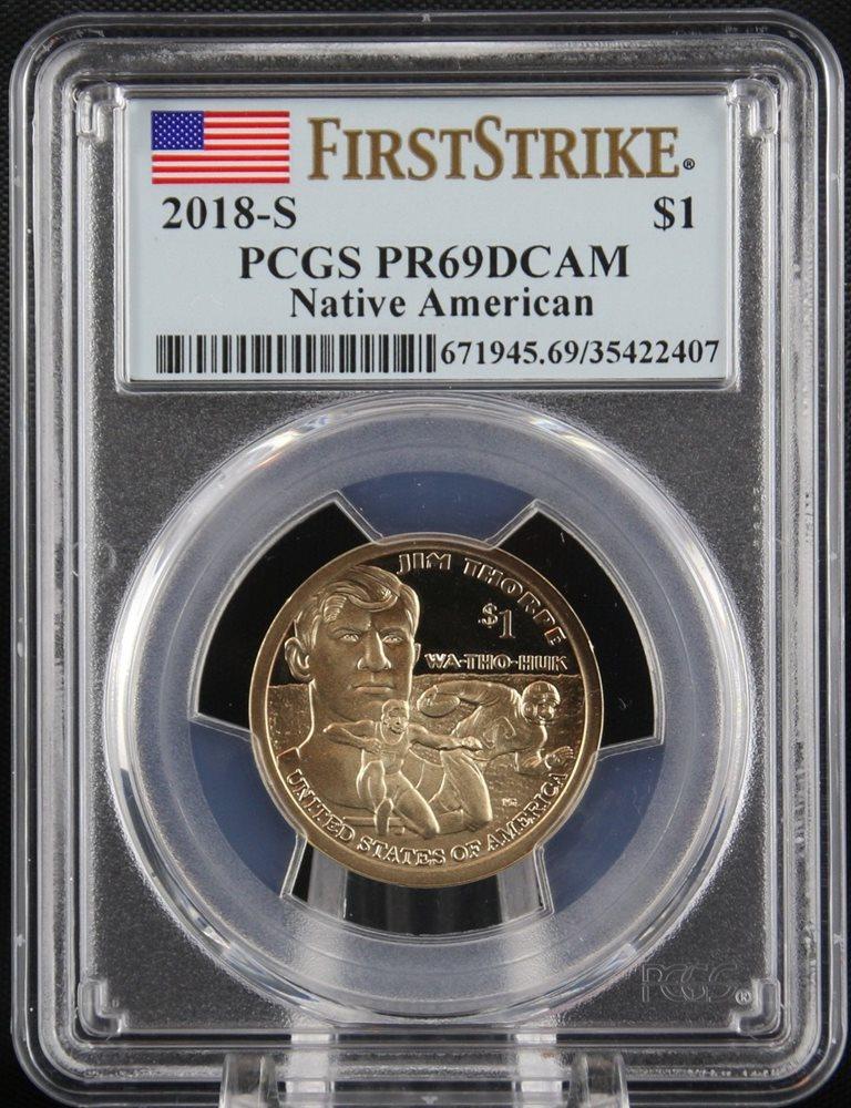 FREE SHIPPING 2005-S PROOF SACAGAWEA Native American Dollar PCGS PR69DCAM