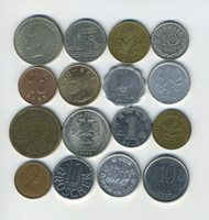 Lot of 16 World Coins - 16 Different Countries - Great Starter - Lot #228