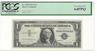 1957-A FR-1620 Silver Certificate J-A block PCGS 64 PPQ Very Choice New