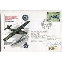 Sighting of the Bismarck FDC signed by Catalina pilot who spotted her!