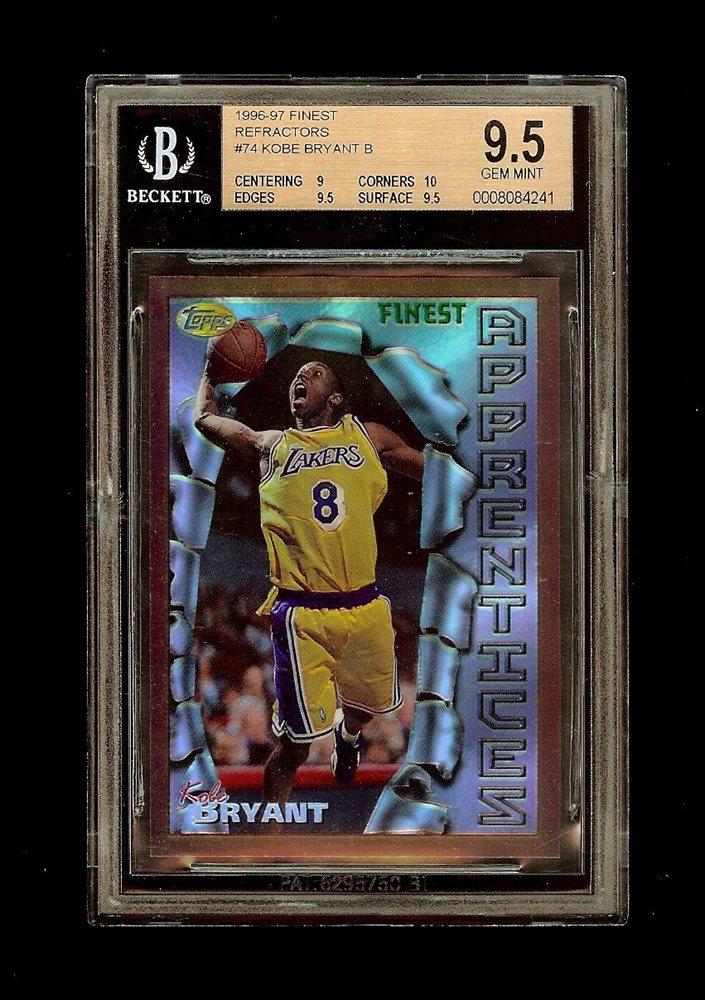 96 97 Kobe Bryant Topps Finest Bronze Refractor Rookie Rc Bgs 95 Gem Mint W10