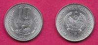 LAOS 10 ATT 1980 UNC HALF LENGTH FIGURE FACING HOLDING WHEAT STALKS DIVIDES SPRI