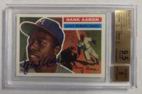 2000 Topps Hank Aaron Autographs 1956 Hank Aaron Auto BGS 9.5 Atlanta Braves