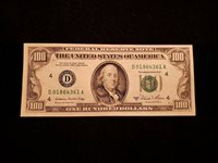 1981-A $100 FRN FEDERAL RESERVE NOTE - (D) CLEVELAND, OHIO LOT#CA156