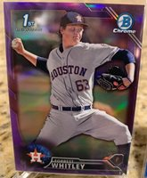 2016 Bowman Chrome Forrest Whitley Refractor Lot (8) Purple blue Silver