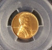 1941 Lincoln Wheat Cent PCGS MS 66 RD,