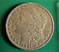 1891 O MORGAN DOLLAR VAM 1C DIE CLASHED G