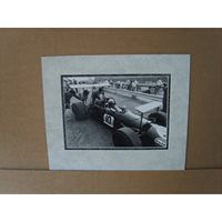 A signed and mounted 9x6 book picture. Jack Brabham 4.