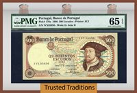 500 Escudos 1966 Portugal Dom Joao Ii Pmg 65 Epq Gem Uncirculated