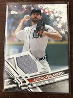 2017 TOPPS Holiday JERSEY RELIC LOT Justin Verlander, Nelson Cruz Billy Hamilton