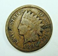 1896 VG FULL RIMS INDIAN HEAD PENNY, FREE SHIPPING