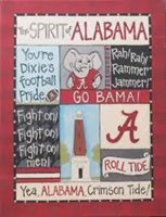 Alabama Crimson Tide Spirit Wall Canvas Glory Haus