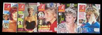 Royalty Monthly Magazines 1991 1992 Vol 11 #1, 2, 3, 6 & 8 Princess Diana