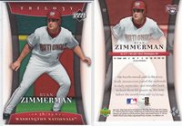 Ryan Zimmerman 2005 Upper Deck Trilogy RC #12