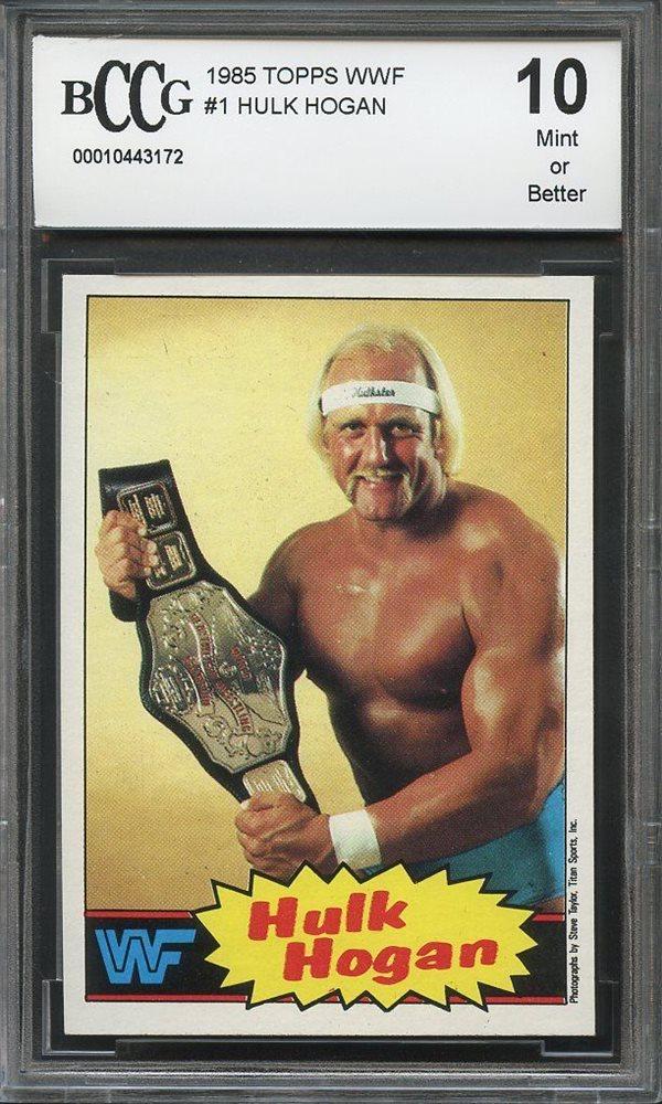 1985 Topps WWF #1 Hulk Hogan Rookie Wrestling Card Wrestling Cards