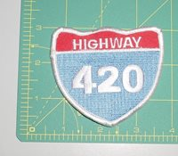 Embroidered Patch - Shield - Highway 420