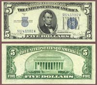 1934-D $5 FR-1654