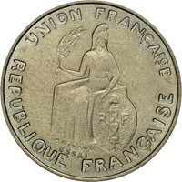 Coin, New Caledonia, 50 Centimes, 1948, Paris, MS(60-62), Nickel-Bronze, KM:E2