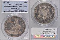 1877-S Genuine PCGS $1