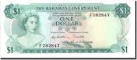 1 Dollar Bahamas Banknote, 1965, Km:18b