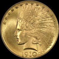 1910-D $10 MS65+ PCGS