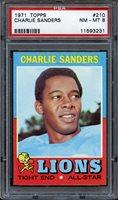 1971 TOPPS CHARLIE SANDERS #210