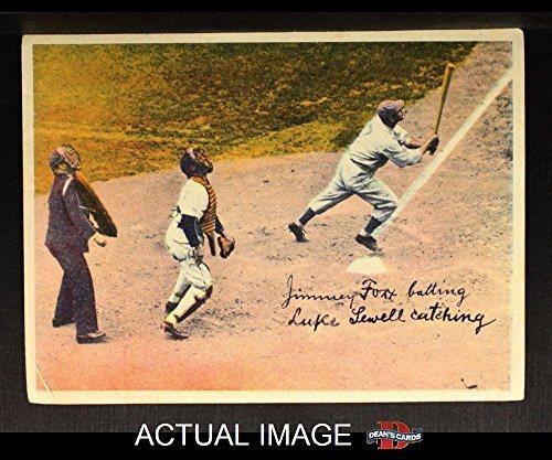 1936 R312 Jimmie Foxx Luke Sewell Baseball Card Deans Cards 3 Vg