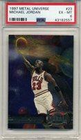 1997-98 Metal Universe #23 Michael Jordan Chicago Bulls HOF PSA 6 EX-MT