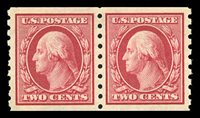 393 Coil pair. 2008 certificate graded 98-OG-NH. A stunning pair that has exceptional centering and is in pristine condition. Only five pairs in never hinged condition have graded 98 and none have graded higher. Also with 2003 PFC $1,900.00