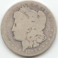 1893-CC Morgan Silver Dollar, Problem Free AG, Key Date Carson City