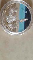 2007 mongolia space gagarin silver coin rare no coa