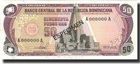 50 Pesos Oro Dominican Republic Banknote, 1981, Specimen, Km:121s1