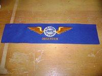 WWII U.S. Army Air Force Observer Armband