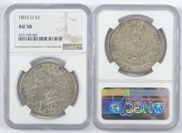1893-O $1 Morgan Dollar NGC AU 50
