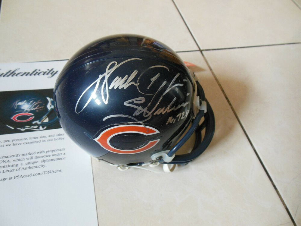 differently f05ef 6805b Walter Payton Autographed Signed Memorabilia Chicago Bears Mini Helmet W/  PSA/DNA Dna Coa 1CUSTOM FRAME YOUR JERSEY