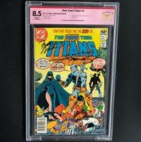 NEW TEEN TITANS #2 (1980)  CBCS 8.5  2X SIGNED GEORGE PEREZ + MARV WOLFMAN!