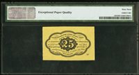 Fr 1281 25¢ First Issue PMG Choice Uncirculated 63 EPQ. Note Fractional Currency