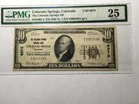 National Bank Note Colorado Springs Colorado PMG 25 Only 41 Small Note Known