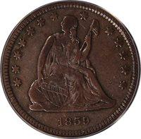 1859-O Liberty Seated Quarter PCGS VF25 Briggs 2-B