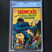 SHOWCASE #7 (DC 1957)  CBCS 4.5 OW-W  2ND APP OF CHALLENGERS OF THE UNKNOWN!