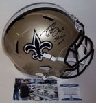 Drew Brees - Autographed Full Size Riddell Speed Football Helmet - New Orleans Saints - BAS Beckett Authentication
