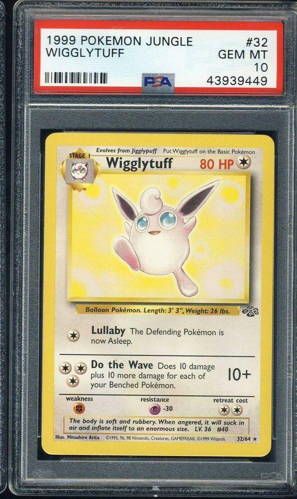 Sleeve 32//64 NM Wigglytuff 1st Edition Rare Jungle 1999 Pokemon Card