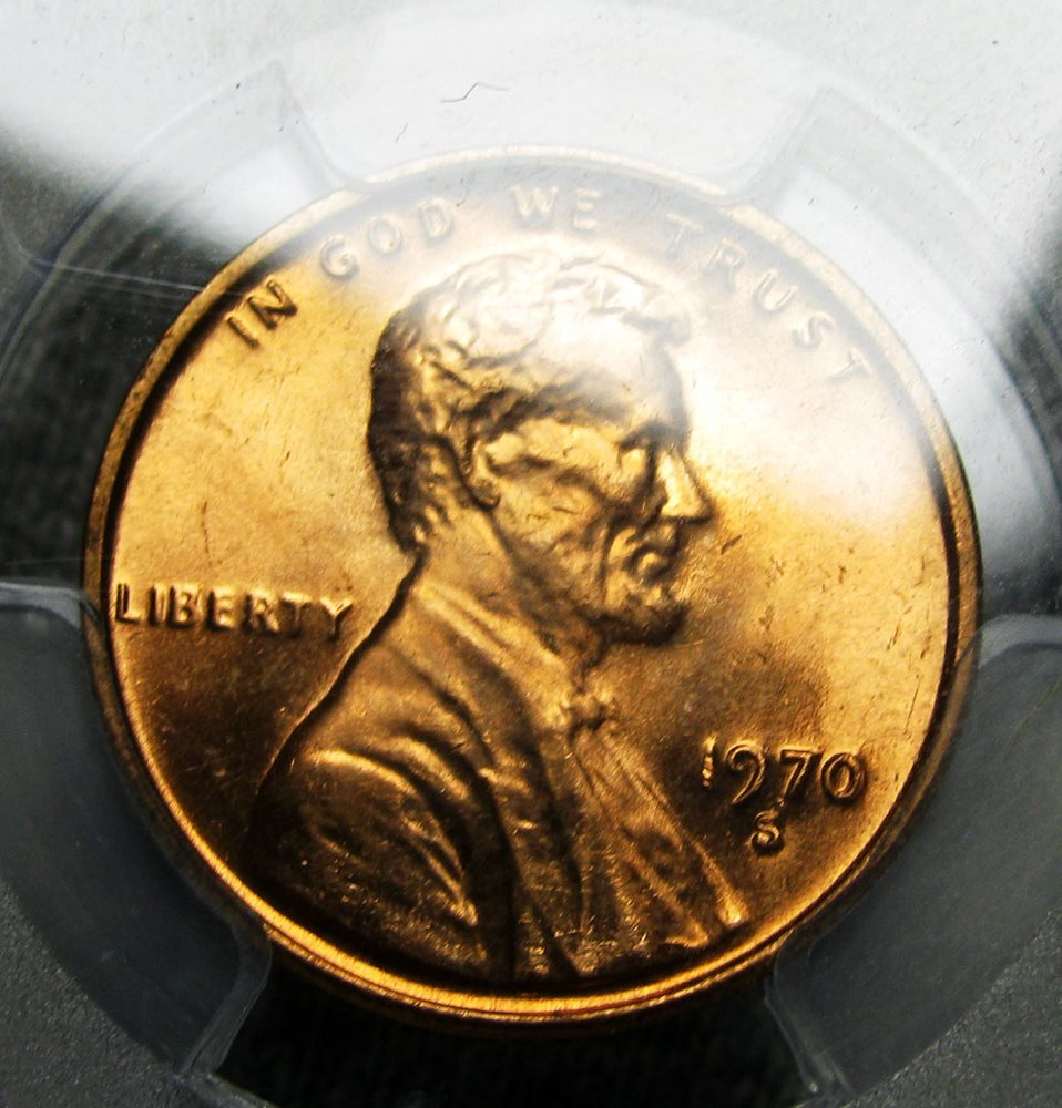 1970-S SMALL DATE Lincoln Memorial Penny --- PCGS Slabbed MS