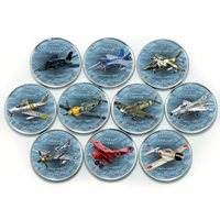 Zimbabwe 1 shilling set of 10 coins Aviation History Aircraft, Planes 2017
