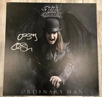 OZZY OSBOURNE ORDINARY MAN VINYL Limited Smoke LP and autographed Lithograph