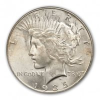 1935-S $1 Peace Dollar PCGS MS65+ (CAC)