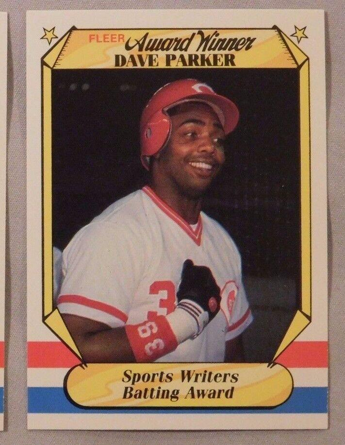 1987 Fleer Award Winner Dave Parker Reds Baseball Card
